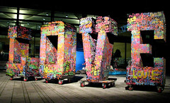 LOVE (monkeymillions) Tags: streetart colour love public brighton paint whitenight jubileesquare colourartaward