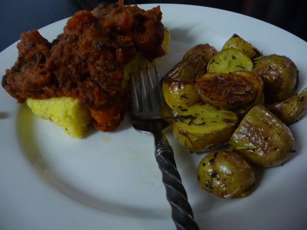 Polenta & Roasted Potatoes
