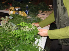 Making a balsam wreath. Flickr photo by JMiedtke. Click photo for a closer look.