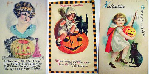 vintage Halloween posters