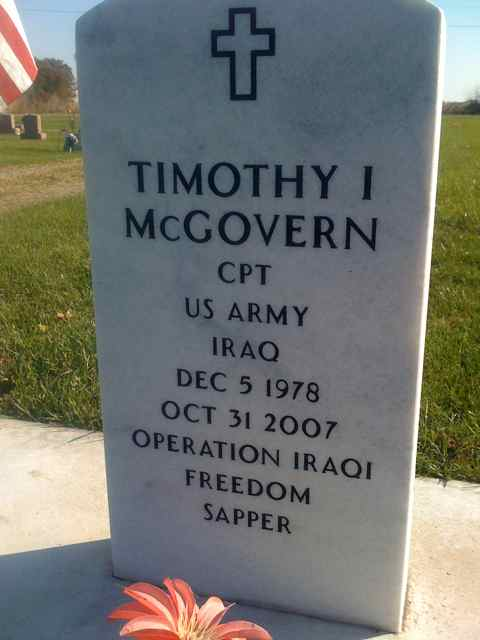 Timothy I McGovern - KIA 10/31/2007