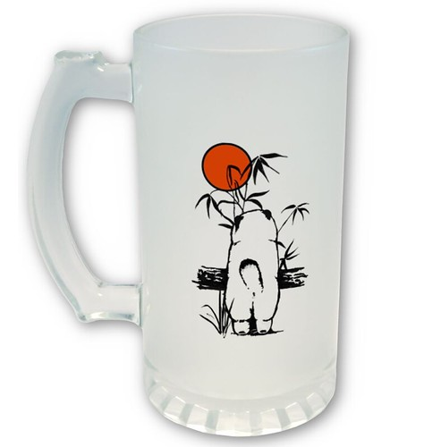 beer mug outline. Example of eer mug front by