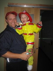 Daddy with his lil' firefighter