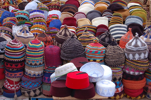 Hat for sale in the Souk