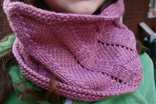 Birthday Cowl in Malabrigo 'Damask Rose'