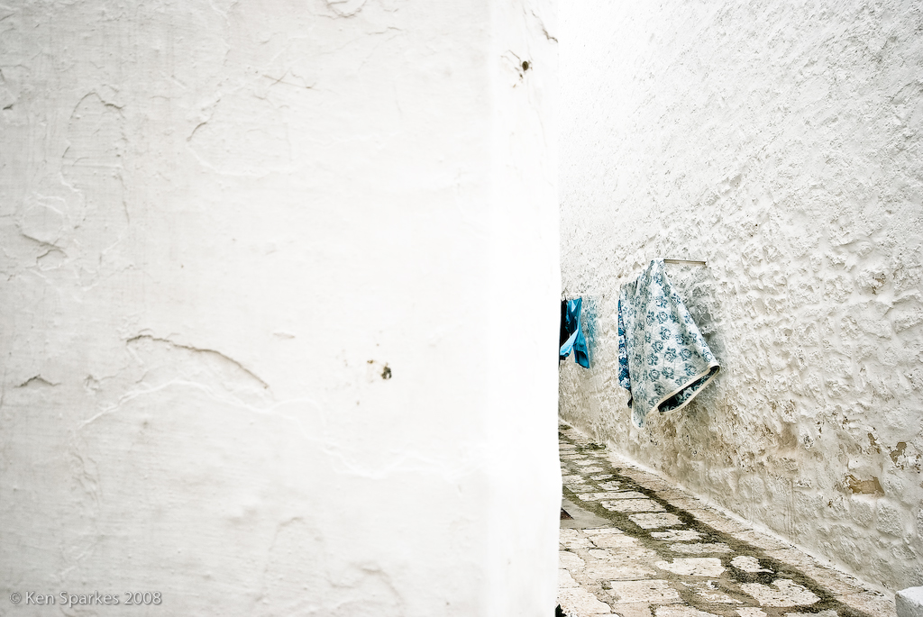 Ostuni's white alleys can be peaceful out of season