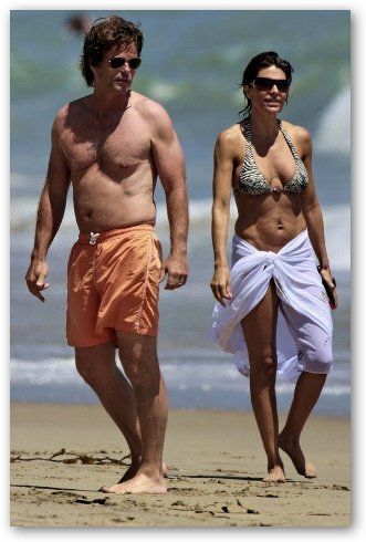 Lisa Rinna and husband, Harry Hamlin, on Beach