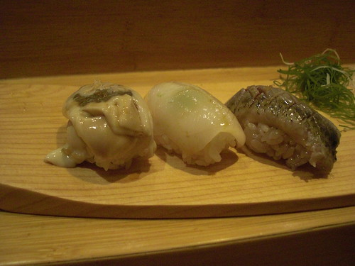 oyster, aori ika, sardine