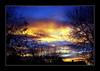 My Neighbor's Chimney (_Anaya_) Tags: blue sunset yellow inmybackyard gorgeoussky cmwdyellow slr1001 myneighborschimney