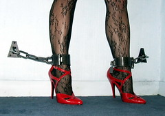 151 High Heel Bondage (Dusty and Lara) Tags: highheels bondage bdsm shackles tiedup stilletos