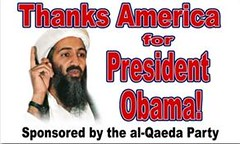 Osama bin Laden thanks America for Barack Obam...