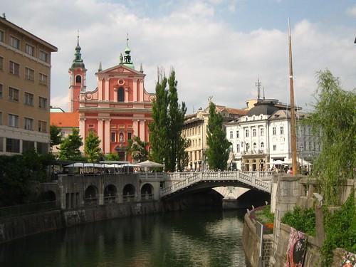 Vista di Lubiana, capitale della Slovenia.