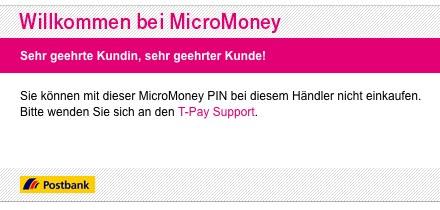 T-Pay - Das unfähige Bezahlsystem der Deutschen Telekom.