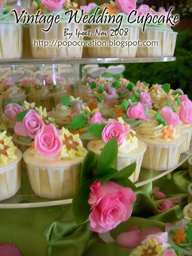 Vintage Wedding Cupcake