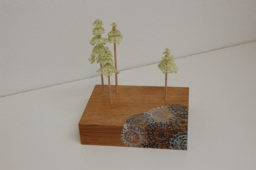 doily trees by a doily lake
