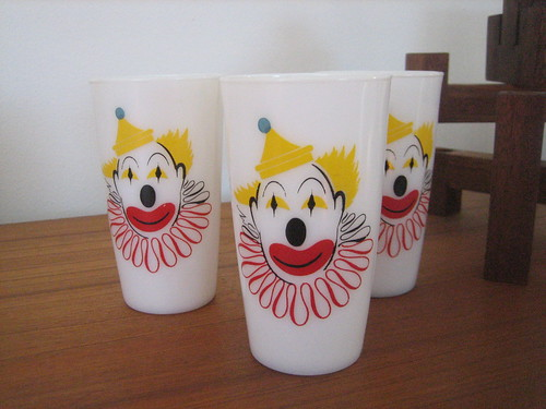Clown Milk Glasses