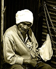 The Catman (Chorizo from Berlin) Tags: street travel portrait india man cat asia chorizo naff socialdocumentaryphotography earthasia stefanrohlaender stefanrohlaender rohlaender