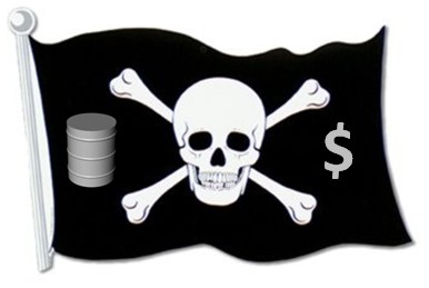 pirate oil money flag