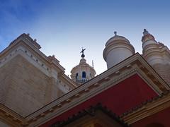 Pasin a color (pandorga) Tags: city espaa color church sevilla spain iglesia ciudad andalucia steeple elsalvador pandorga remates churchcross colorespecial citywithcolor