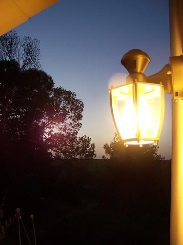 porch light, on again