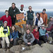 President and Mrs. Wright and friends on the summit of Mt. Moosilauke