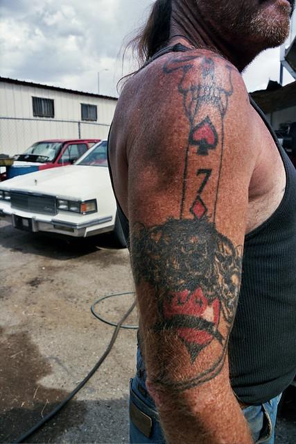 7 of diamonds, hellatious tattoos