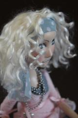 Custom Doll (Abi Monroe) Tags: sculpture cat bag dance doll acrylic lace silk fantasy pointes viscose humanfigure paperclay puppenfimo whiteartdoll headband3 baleerina