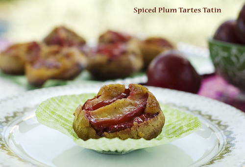 Spiced Plum mini Tartes Tatin