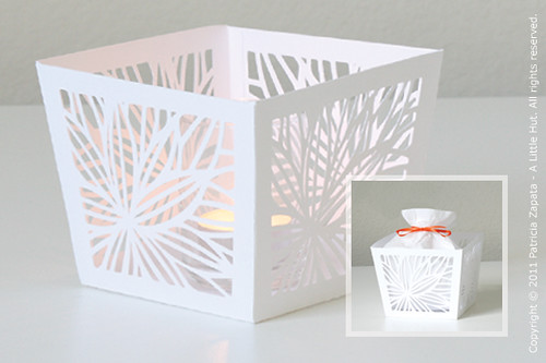 bloom tea light cover