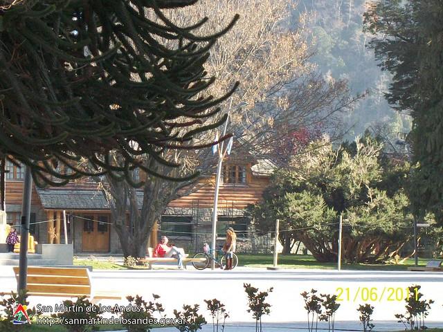 San Martín de los Andes, limpia y sin cenizas.