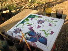 Batik #3 - Half finished