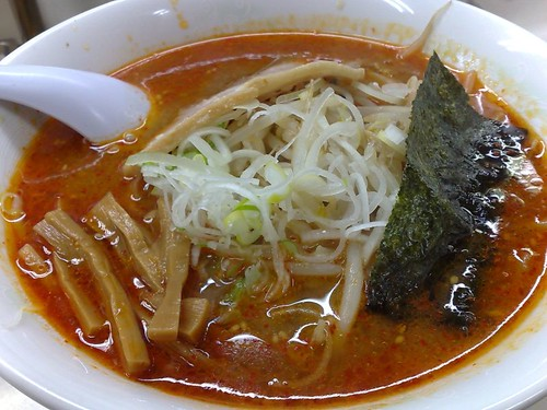 Some kind of spicy ramen