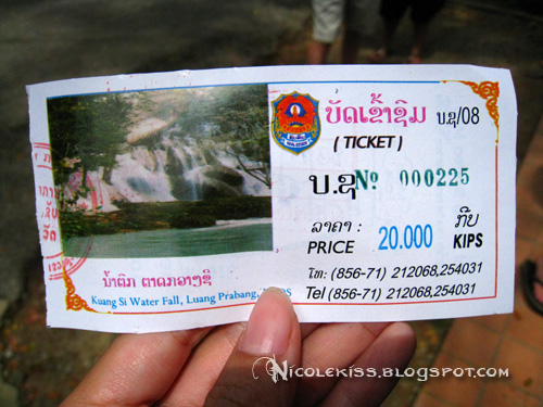 ticket to kuang si fall