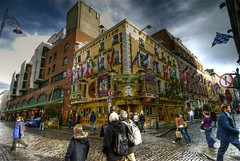 Temple Bar (wili_hybrid) Tags: street city trip travel ireland vacation portrait people urban dublin holiday geotagged outside outdoors photo yahoo hostel spring high nikon europe flickr european exterior dynamic photos outdoor topv1111 picture pic human journey april wikipedia imaging d200 mapping 2008 range geotag templebar tone hdr hdri photomatix nikond200 tonemapped tonemapping highdynamicrangeimaging year2008