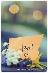 Happy Bokeh Wednesday! (Erin Branham) Tags: sparkles bluebells forsythia haveagreatday ilovebokeh hbw happybokehwednesday