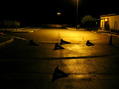 IMG_4569 (mjulius) Tags: night cones knockedover
