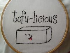 Tofu-licious Embroidery