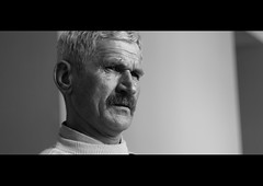 DSC_6086 Clint Eastwood? (Sakuto) Tags: old portrait people bw man face hospital wrinkle helios