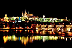 Charles Bridge n Castle, Prague (Souvik_Prometure) Tags: castle night slow prague praha shutter soe karluvmost flickrsbest abigfave platinumphoto aplusphoto colorsofthenight souvikbhattacharya