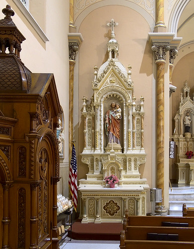Saint Anthony of Padua Roman Catholic Church, in Saint Louis, Missouri, USA - Saint Joseph's altar