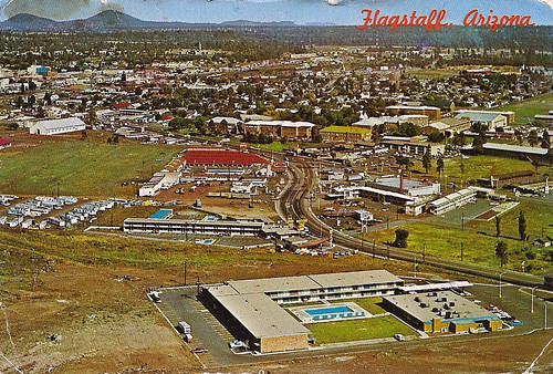 Flagstaff, AZ aerial view, 1966