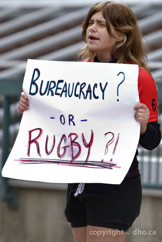 Lorne Park Spartan Rugby Protest