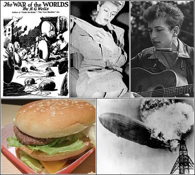 Quel est le point commun entre MacDonald's, la Guerre des Mondes, le nylon, Bob Dylan et l'incendie du Hindenburg ?