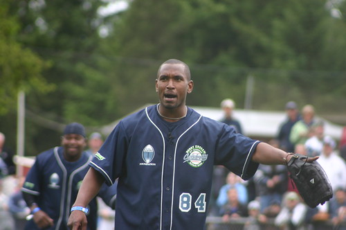 Bobby Engram at the Bobby Engram Celebrity Softball Game