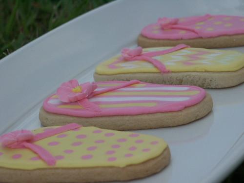 Flip Flops - Decorated Sugar Cookies