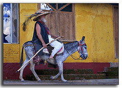 Don Quijopanza - a postcard from ajijic (uteart) Tags: man mexico donkey jalisco explore ute pedro riding hagen myfave ajijic pinocho mywinners abigfave utehagen uteart theunforgettablepictures explore062108 pedroloco petermorsemoir