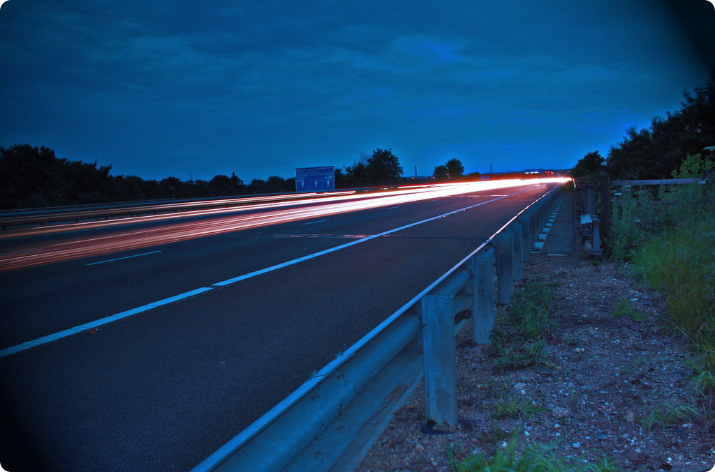 slow shutter motorway