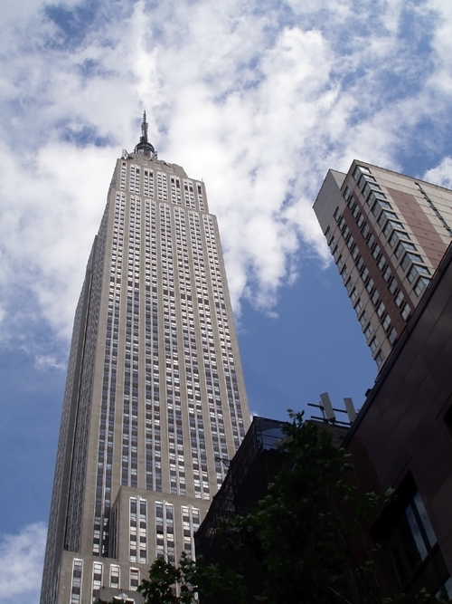 a look up at the Empire State Building, Manhattan, NYC