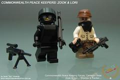 """Zook & Lori (Joriel """"Joz"""" Jimenez) Tags: lego lori minifigs joz legoarmy brickarms jorieljimenez legominifigures legomilitary cpkf zook74"""