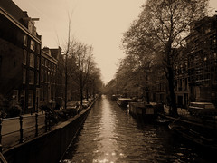 walking on the water (instantcatchers) Tags: white black amsterdam river